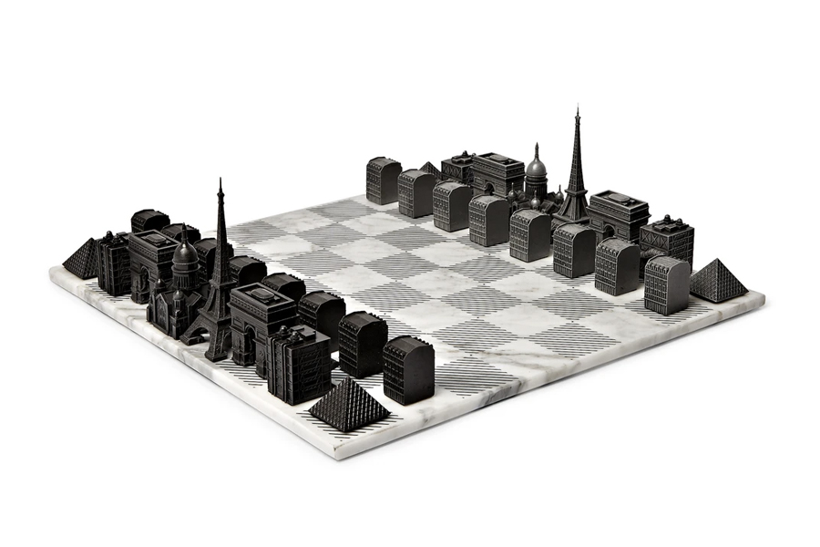 Best Chess Sets - Skyline Chess – Paris Marble and Metal