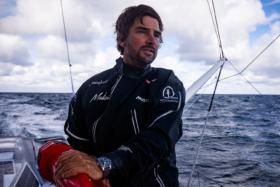 Boris Hermann at sea on his yacht