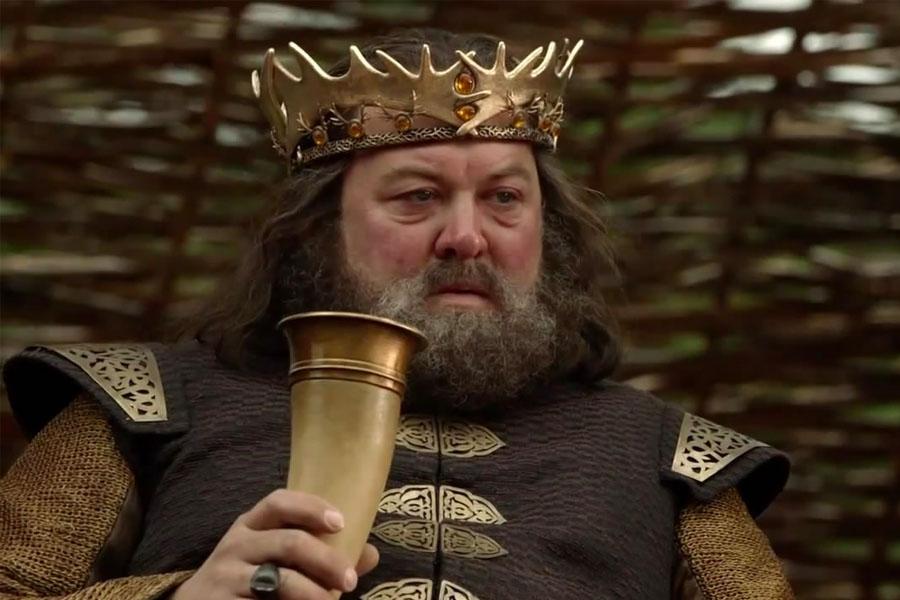 Robert Baratheon More Wine meme from Game of Thrones