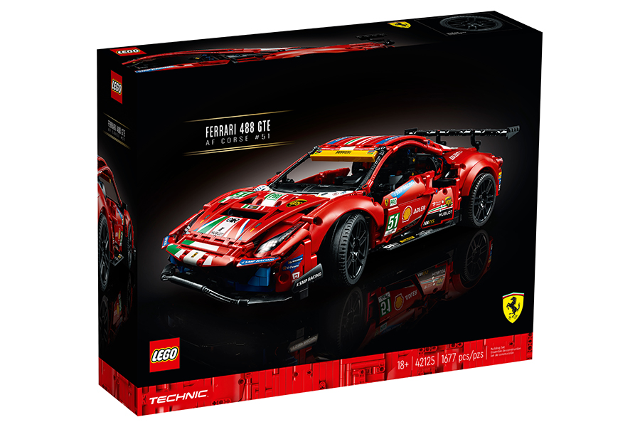 Lego Technic Ferrari 488 GTE Building Set box