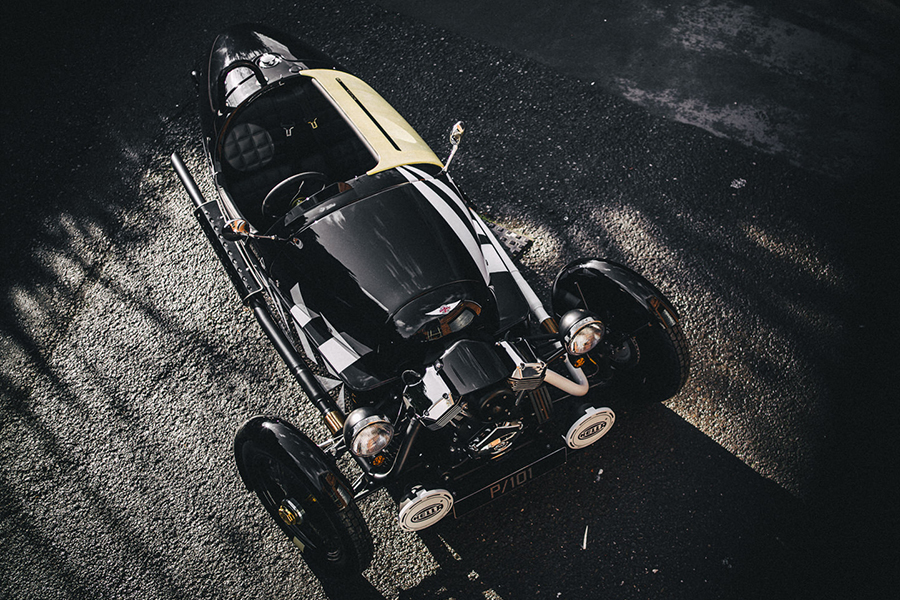 Morgan Launches New Limited Edition 3 Wheeler P101 aerial view