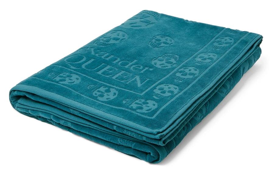 ALEXANDER MCQUEEN Logo-Jacquard Cotton-Terry Beach Towel