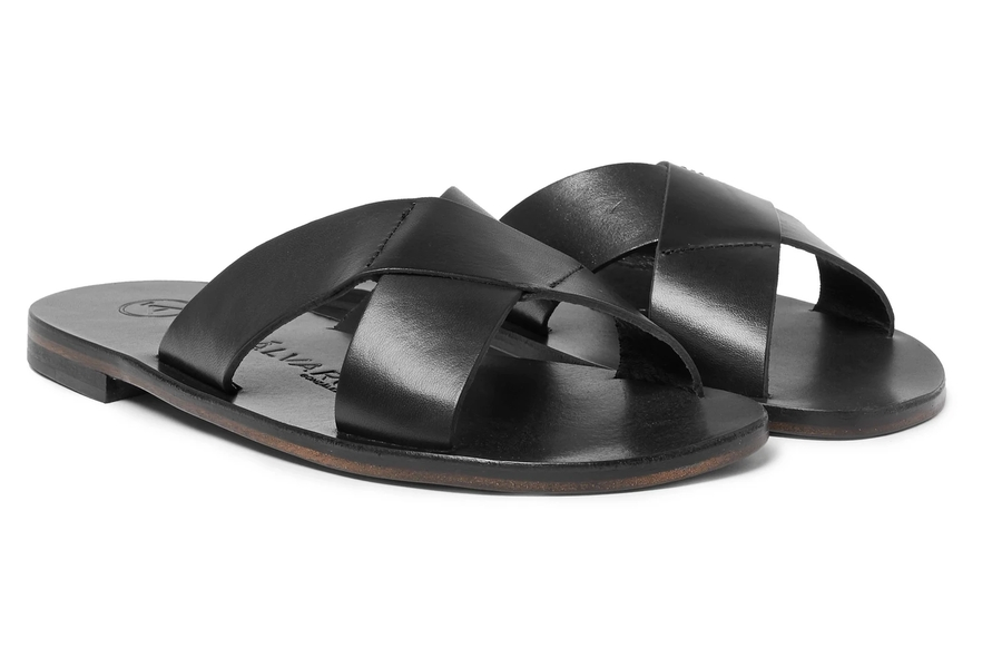 Alvaro Antonio Leather Slides
