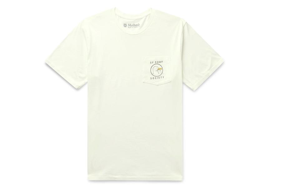 Mollusk Surf Society Printed Cotton-Jersey T-Shirt