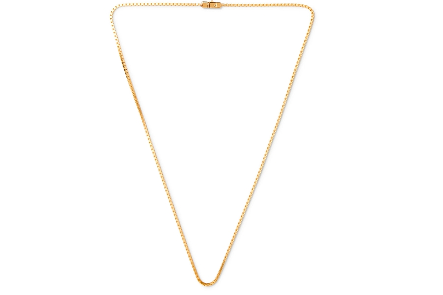 TOM WOOD Gold-Plated Chain Necklace