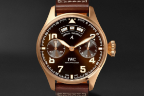 IWC SCHAFFHAUSENBig Pilot's Big Date Spitfire 'Mission Accomplished' Limited Edition Hand-Wound 46.2mm Bronze and Leather Watch