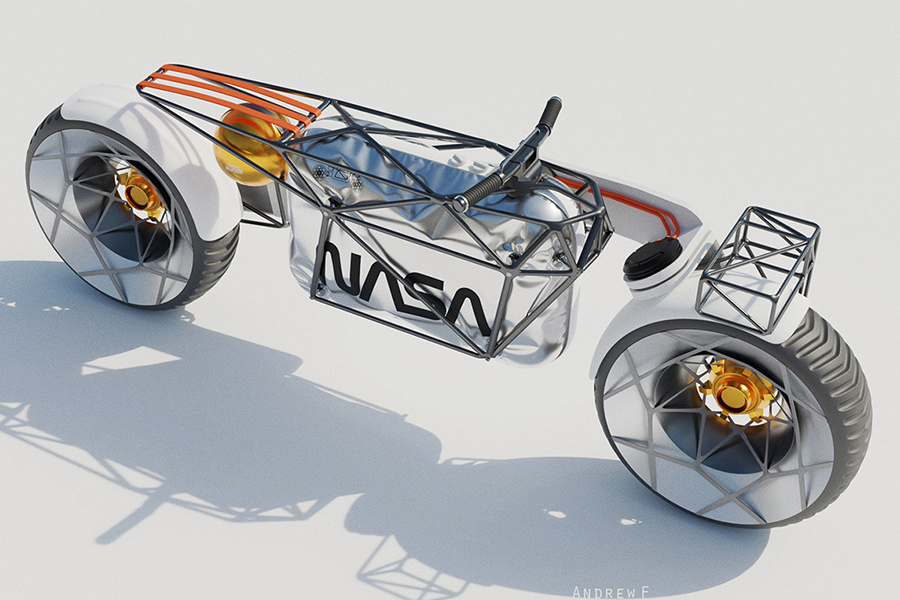 NASA Motorcycle Concept top view