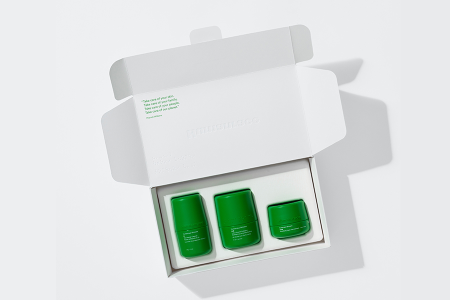 Pharrel Williams Humanrace Skincare in box