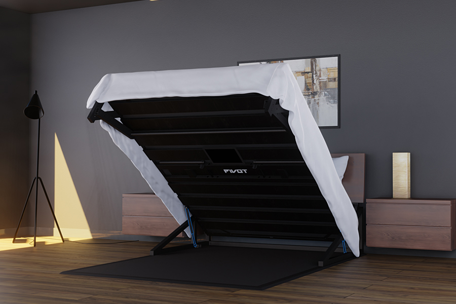 Pivot Bed Home Gym side
