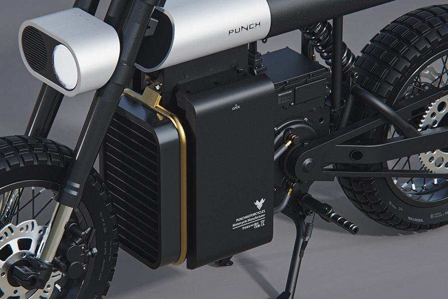 Punch Urban Electric Bike engine