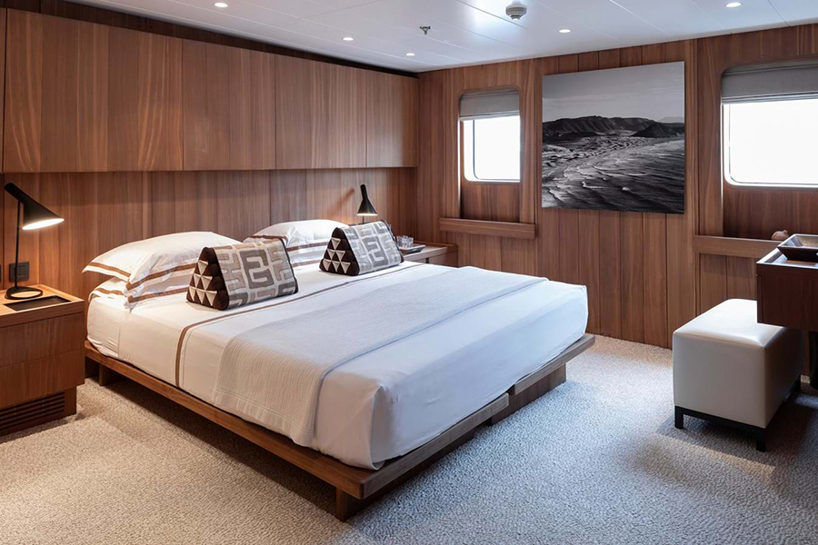 Russian Navy Ship converted to Superyacht bedroom