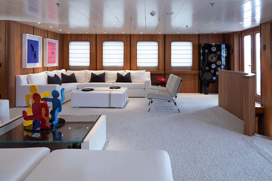 Russian Navy Ship converted to Superyacht meeting area
