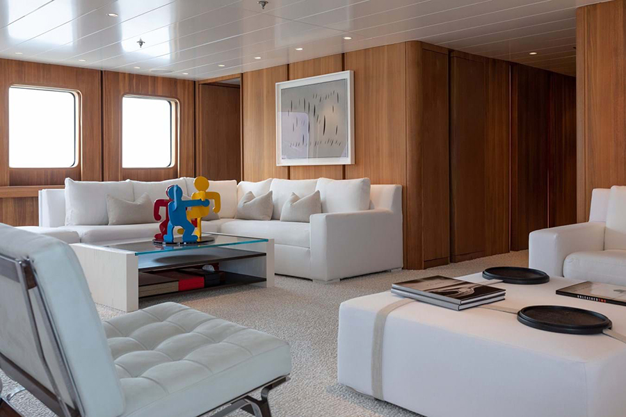 Russian Navy Ship converted to Superyacht relax area