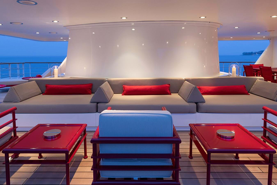 Russian Navy Ship converted to Superyacht lounge