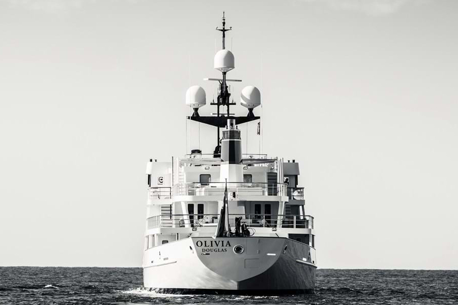 Russian Navy Ship converted to Superyacht front