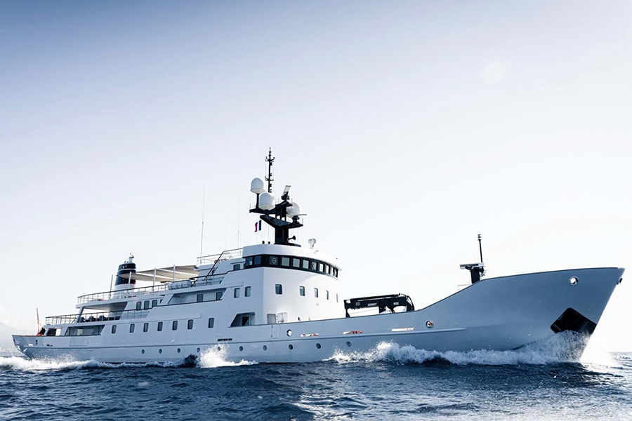 Russian Navy Ship converted to Superyacht side
