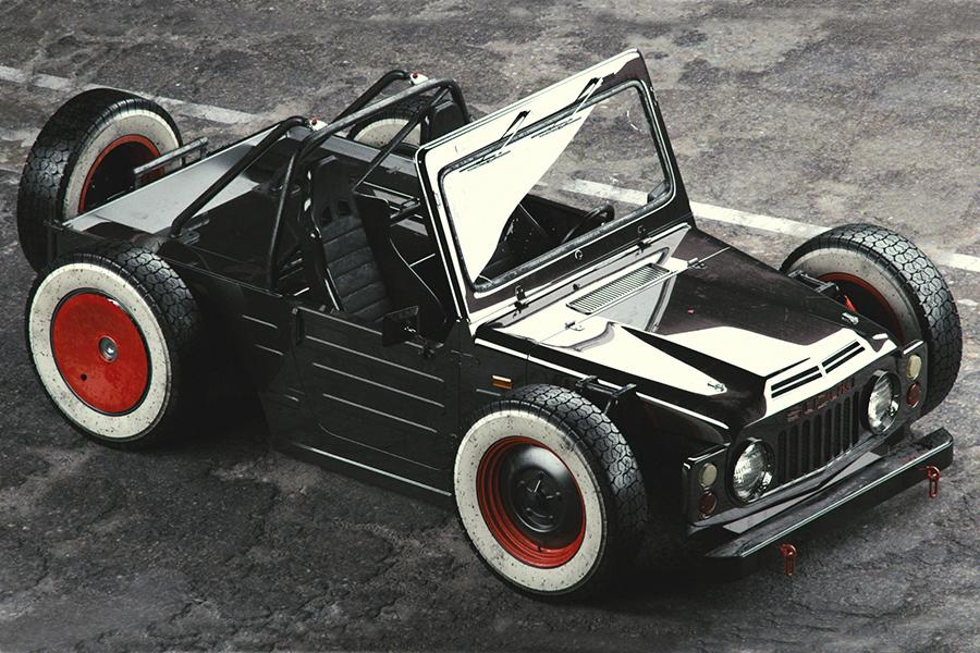 Suzuki Jimny Ratrod 1977 top view