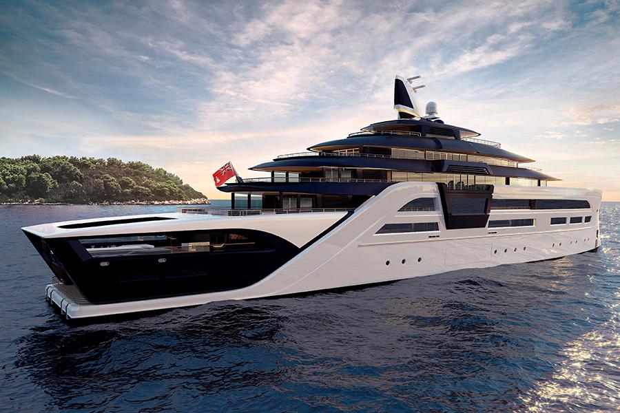 Tfotiadis Design 95m Ultra2 Super Yacht side