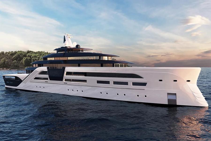 Tfotiadis Design 95m Ultra2 Super Yacht front