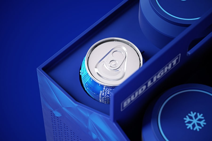 The Budlight Video Game Console side