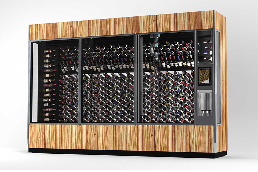Winecab AI Winewall library