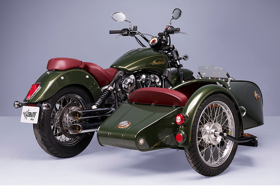 Indian Scout Sidecar from France back