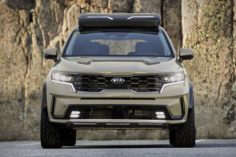 kia unveils rugged x line front