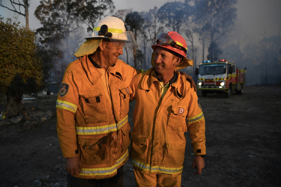 Two Australian Volunteer Firefighters