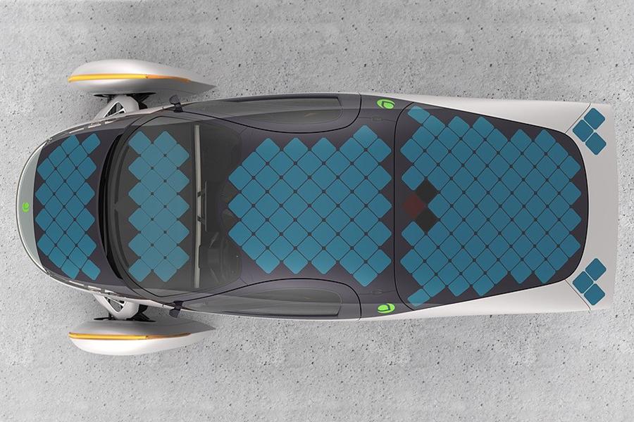Aptera Paradigm Plus roof solar