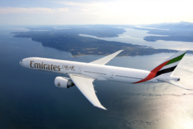 An Emirates plane in air