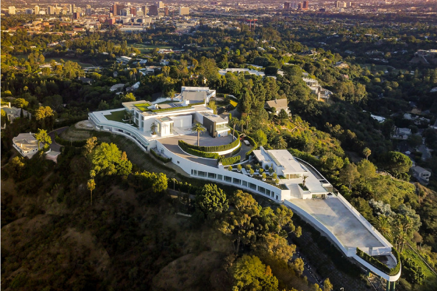 Aerial view of the Bel-Air Palace