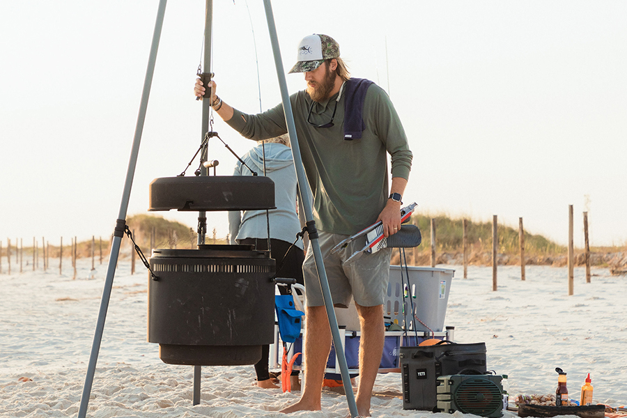 Burch Barrel - Portable Suspended Barbecue travel