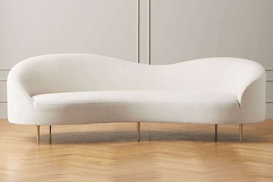 CB2 Curvo Snow Sofa