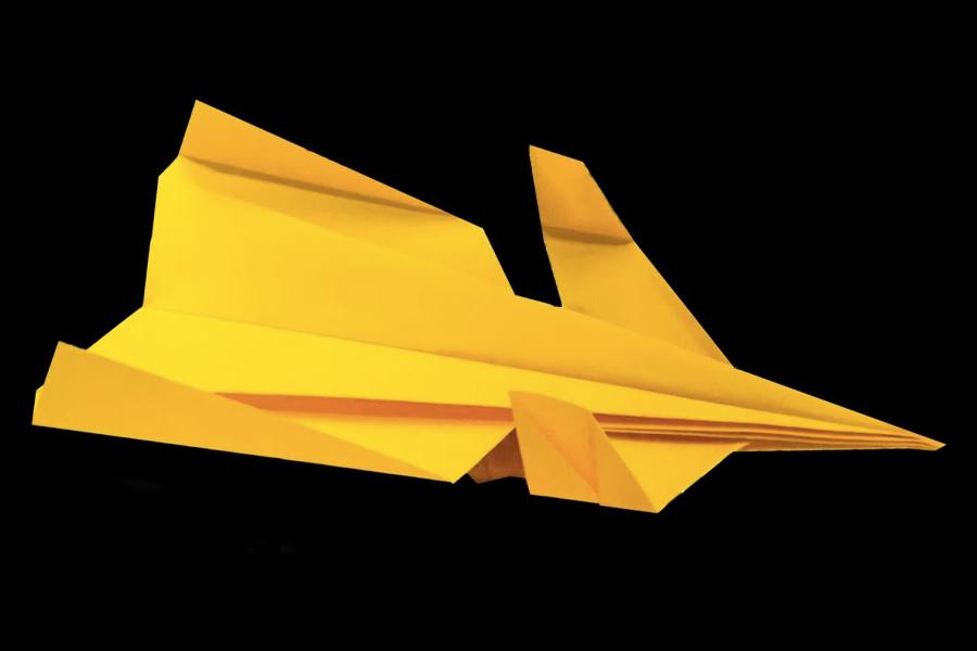 Carnard paper aeroplane