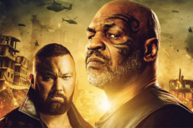 Mike Tyson and Bjorn Hafthor in a Desert Strike poster