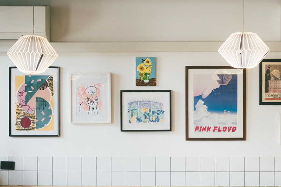 Paintings hanged on wall