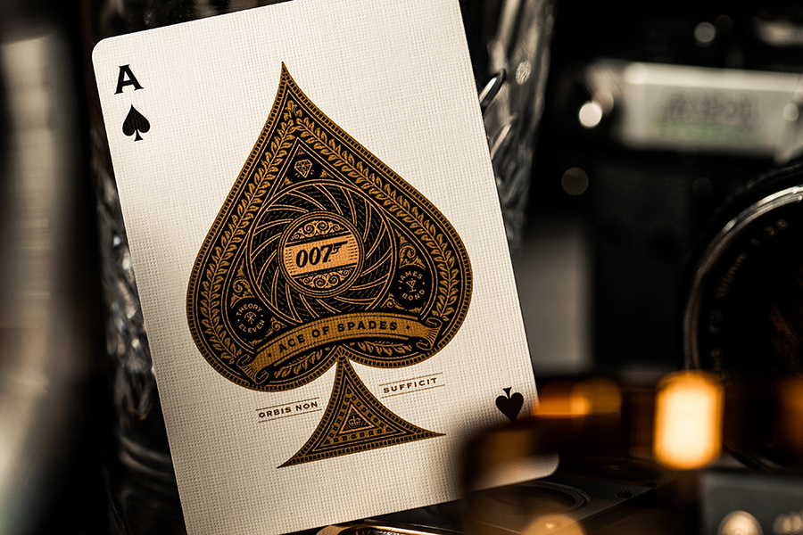 James Bond playing cards ace