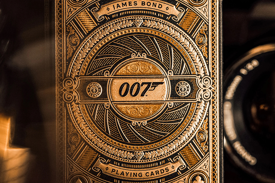 James Bond playing cards front