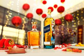 Johnnie Walker Lunar New Year Limited Edition bottles of King George V and Blue Label