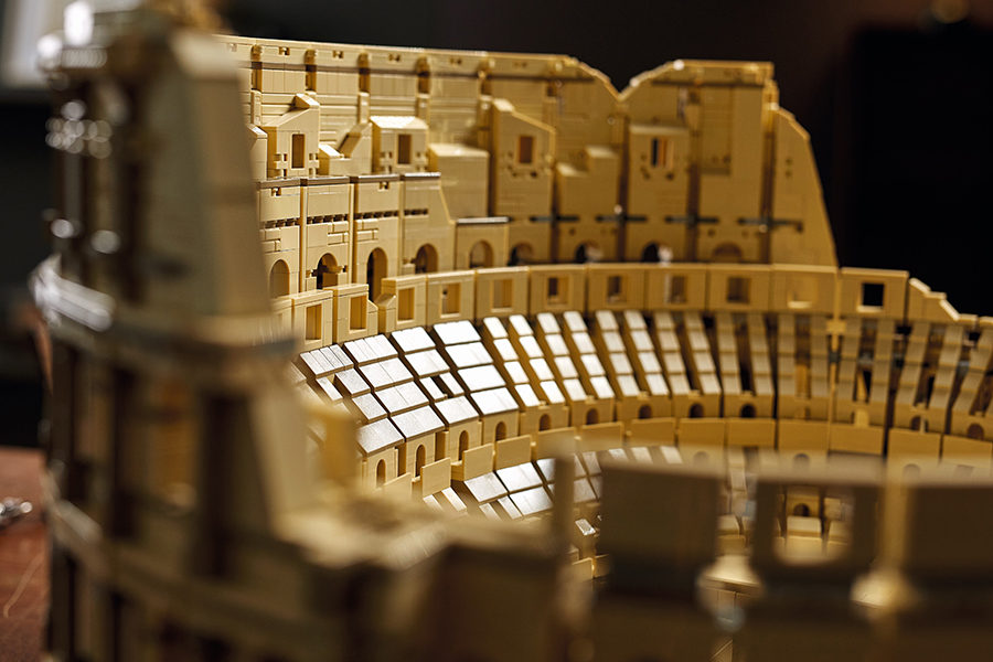 LEGO Colosseum inside detail