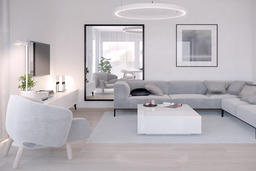 Minimalist Living room idea 8