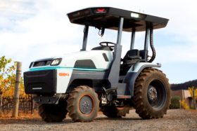 Monarch Electric Tractor side