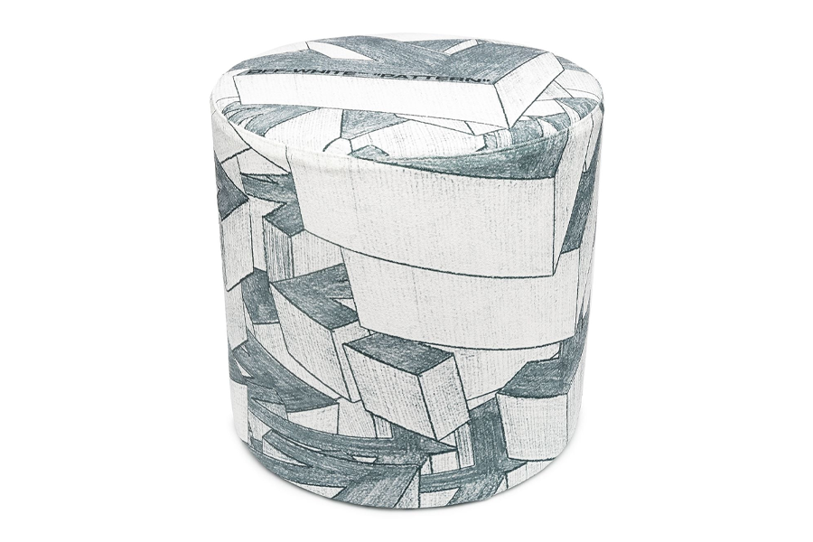 Off-White Arrows Print Stool
