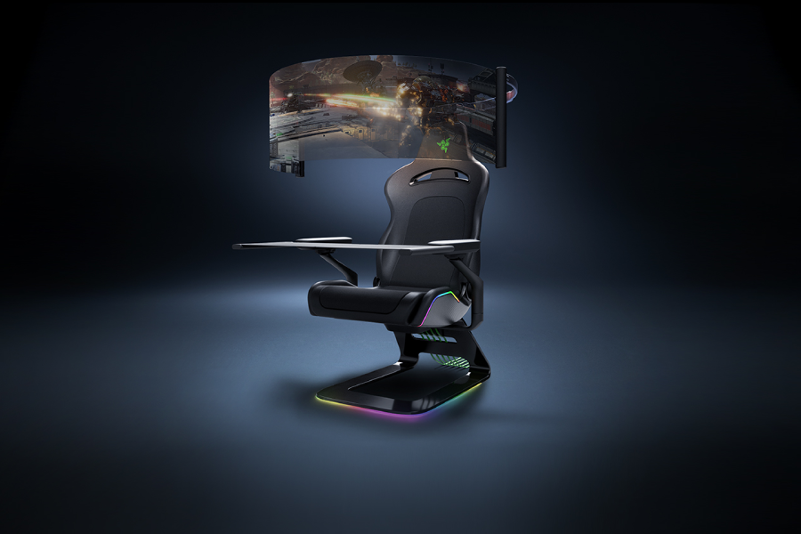 Razer Project Brooklyn Gaming Chair Comes with a 60″ Rollout OLED Display
