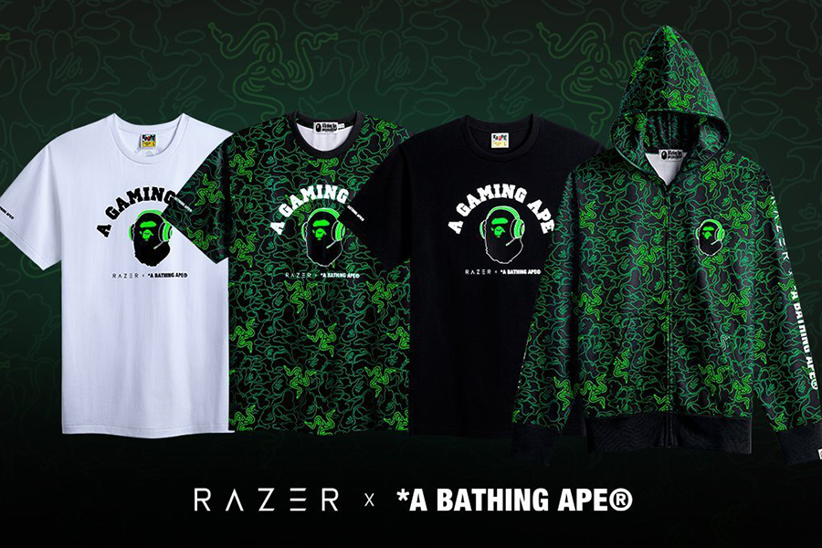 Razer x Bathing Ape shirts