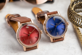 A red and a blue dial UNDONE x Wonder Woman 84 Ruby watches