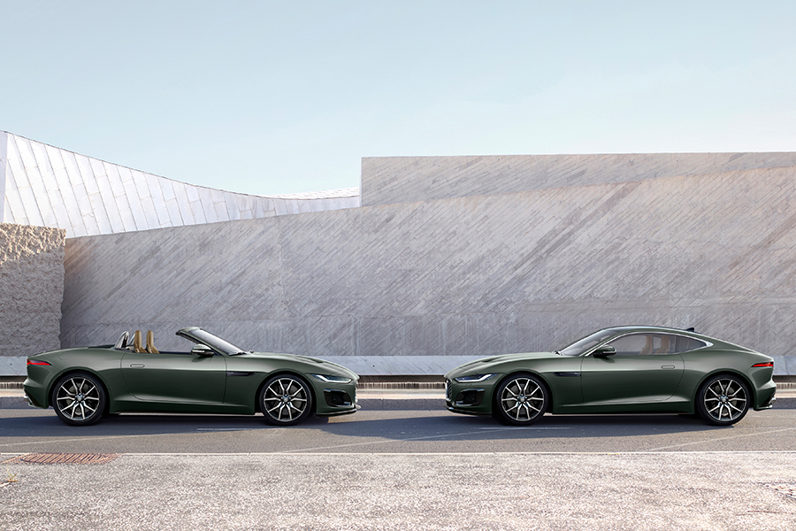 jaguar F type heritage edition two cars