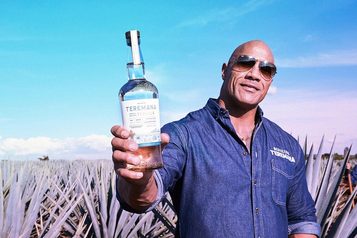 The Rock holding a bottle ofTeremana Tequila