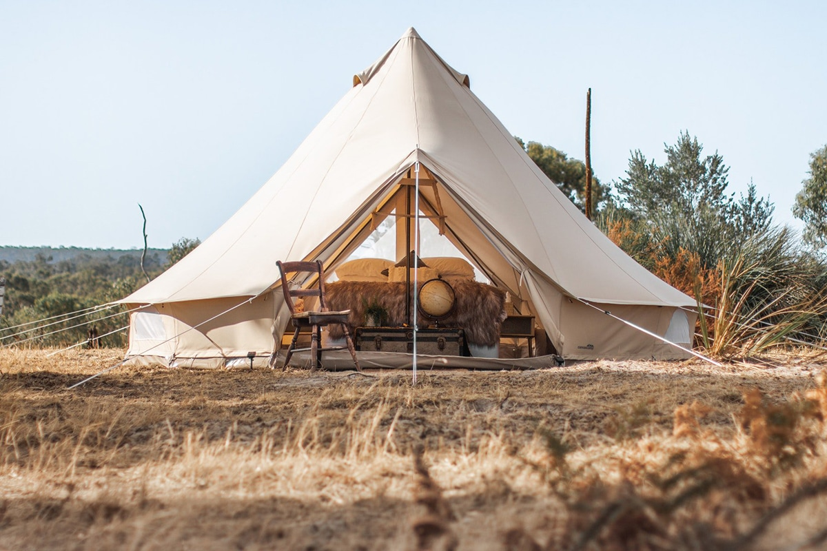 Best Glamping Spots Near Adelaide Tent on a Hill
