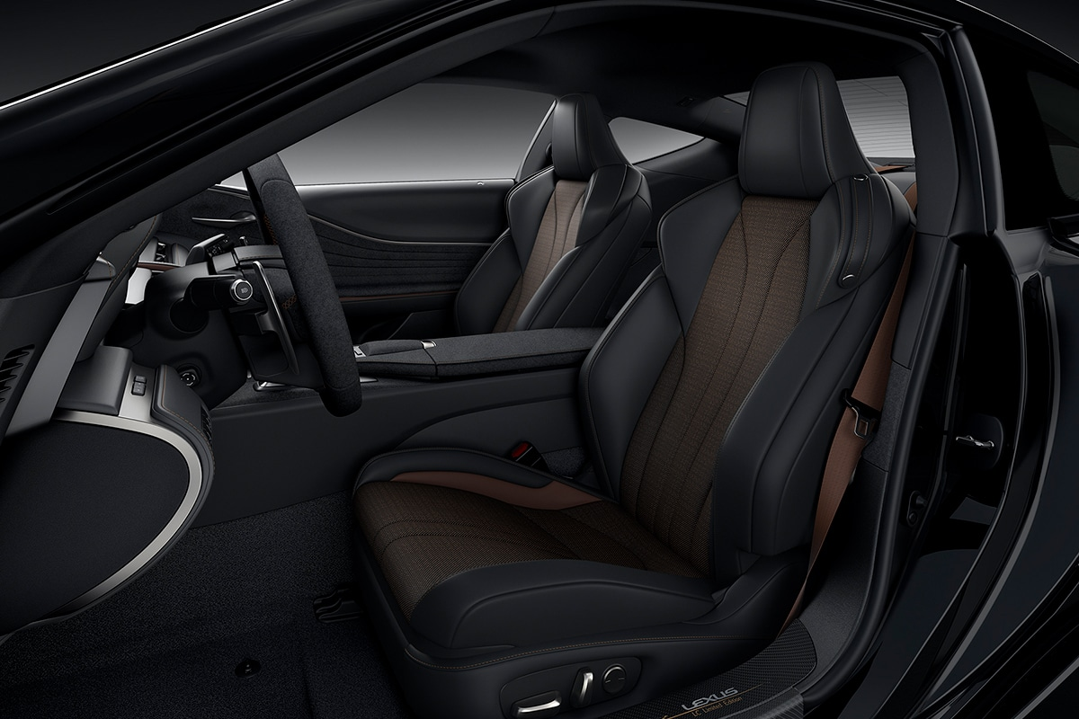 2021 Lexus LC 500 Inspiration Series Coupe front seats